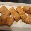 シーバスの味噌ニンニク焼き